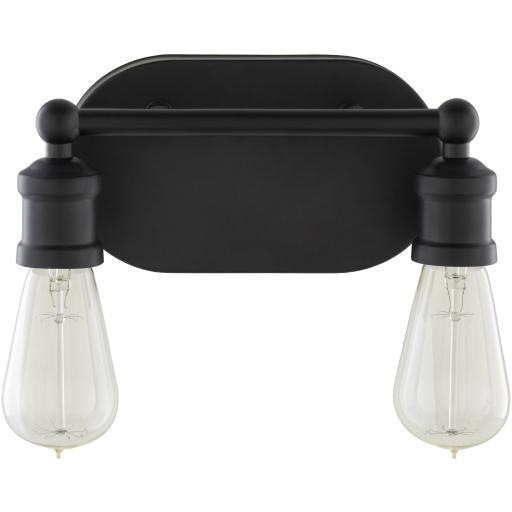 Cora Black Powder Coated Metal Wall Sconce