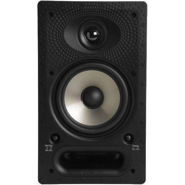 "Polk Audio 6.5"" Vanishing RT Series In-Wall Rectangular Speaker (65RT)-In-Wall Speaker-Parker Gwen"