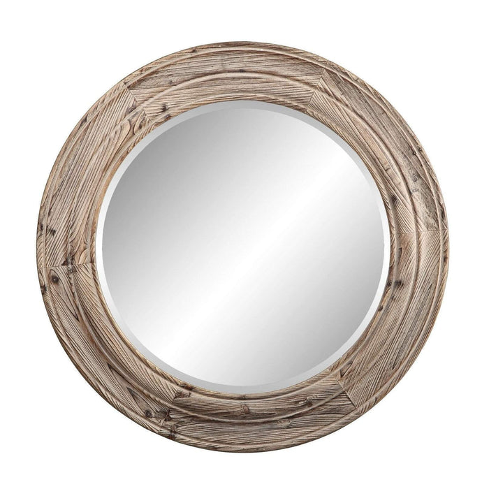 PORTHOLE MIRROR BROWN-Wall Mirror-Parker Gwen