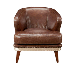 Preston Leather Club Chair (Brown) - Parker Gwen