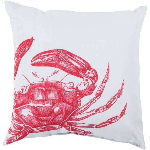 "Rain 18"", 20"" and 26"" Throw Pillow: Bright Red Crab - Parker Gwen"