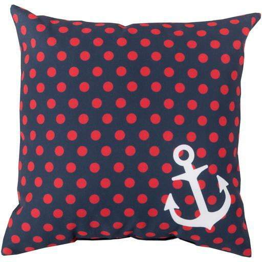 Rain Anchor Throw Pillow: Navy/Red - Parker Gwen