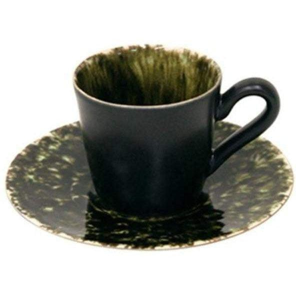 RIVIERA COLLECTION Coffee Cup & Saucer (SET OF 6): FORETS - Parker Gwen