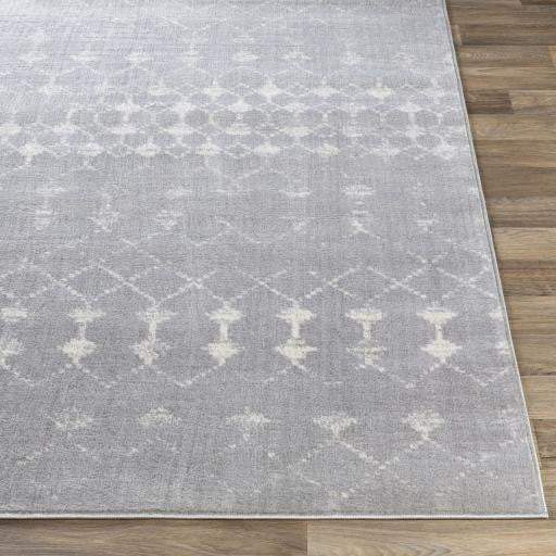 Roma Patterned Rug: Multiple Sizes (Gray & White) - Parker Gwen