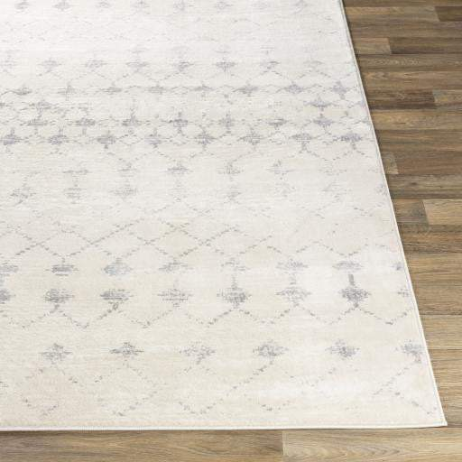 Roma Patterned Rug: Multiple Sizes (Gray & Cream) - Parker Gwen