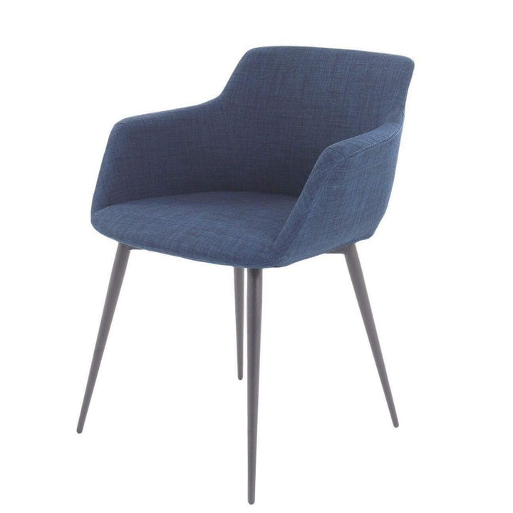 Ronda Arm Dining Chair (Blue) - Set of 2 - Parker Gwen