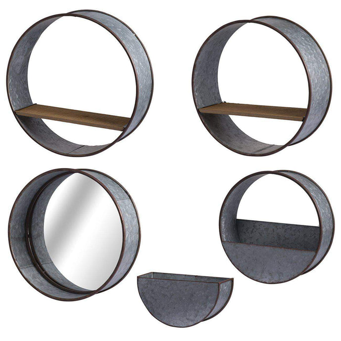 Round Wall Planters: Set of 5-Pot & Planter-Parker Gwen