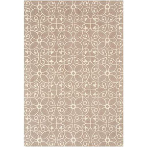 Scott Hand Hooked Wool Rug Collection: Multiple Sizes & Runner (Taupe) - Parker Gwen