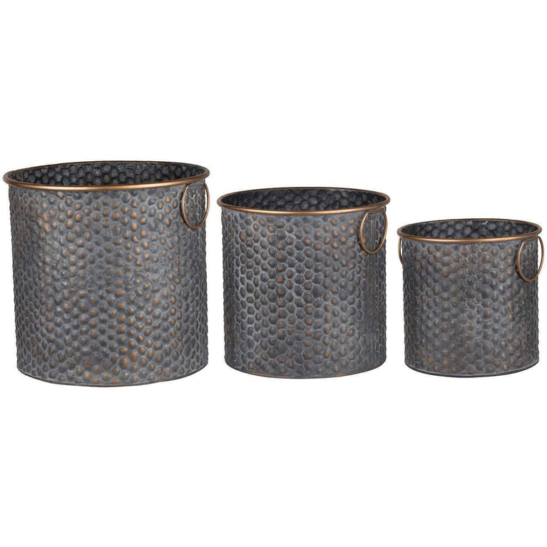 Seneca Metal Planters: Set of 3 - Parker Gwen