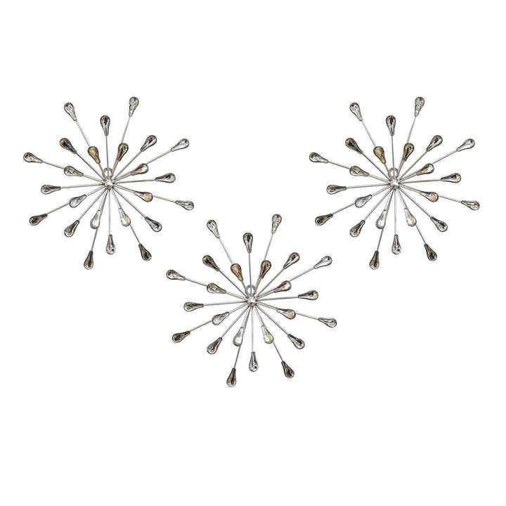 Set of 3 Acrylic Burst Wall Décor-Wall Accent-Parker Gwen