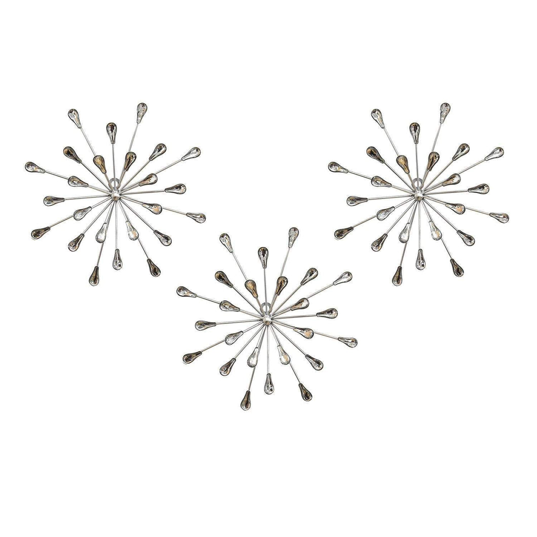 Set of 3 Acrylic Burst Wall Décor - Parker Gwen