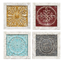 Set of 4 Accent Tile Wall Art-Wall Accent-Parker Gwen