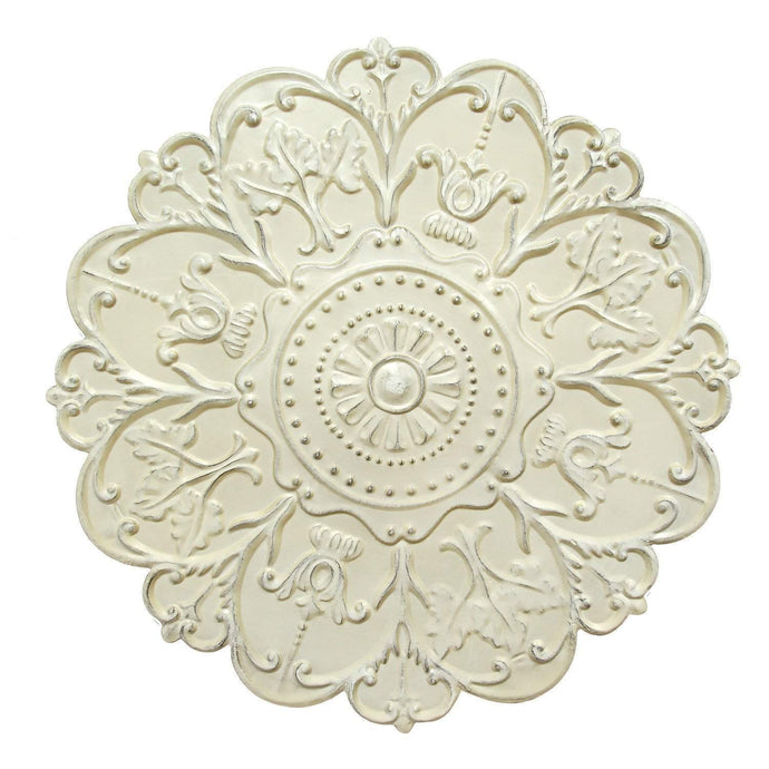 Shabby White Medallion Wall Décor - Parker Gwen