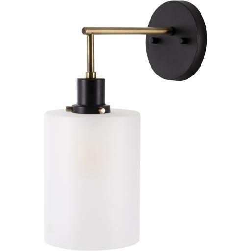 Isla Gold Brushed Plated Powder Coated Glass Wall Sconce