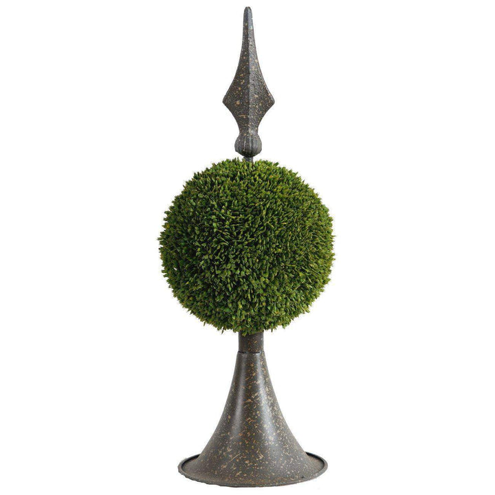 "Spired Sphere Boxwood Topiary: 17""-Tabletop-Parker Gwen"