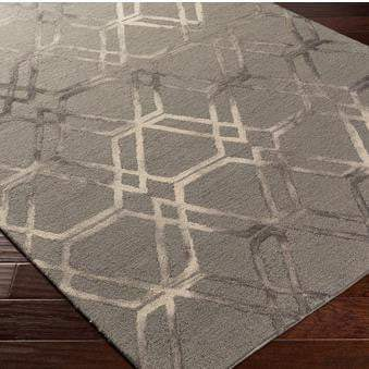 Serafina Hand Hooked Wool Rug Collection - Multiple Sizes & Runner (Charcoal)-Indoor-Parker Gwen