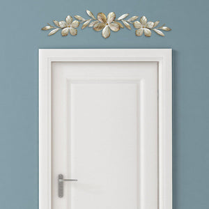 Stratton Home Décor Champagne Flower Over the Door Wall Decor | Wall Accent | parker-gwen