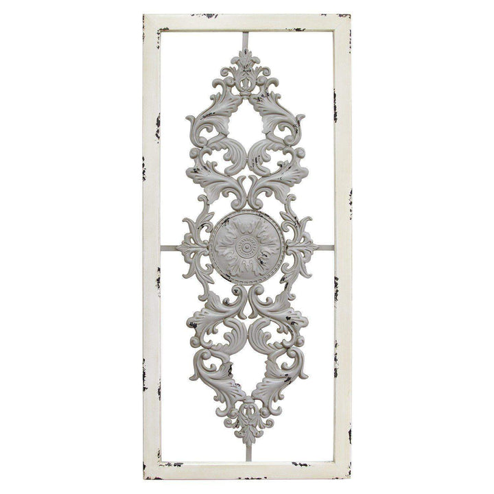 Grey Antique Scroll Panel Wall Decor - Parker Gwen
