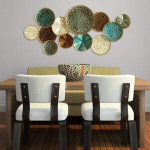 Stratton Home Décor Multi Plates Wall Decor | Wall Accent | parker-gwen