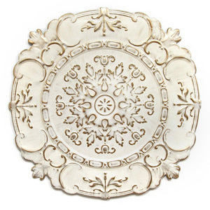 Stratton Home Decor White European Medallion Wall Decor | Wall Accent | parker-gwen