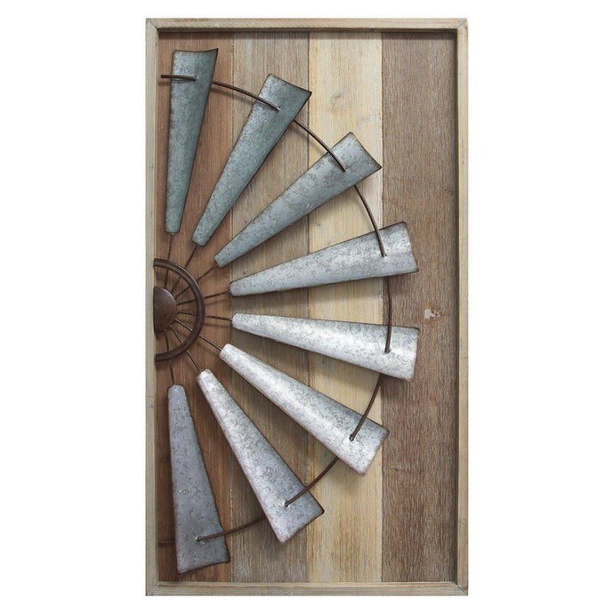Stratton Home Décor Windmill Wall Decor-Wall Accent-Parker Gwen
