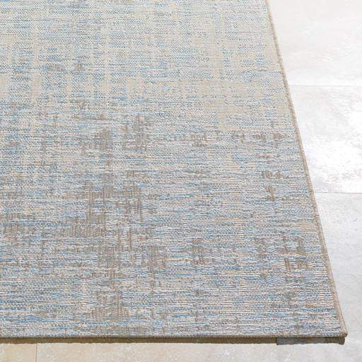 Santa Cruz Cross Thatch Indoor/Outdoor Area Rug (Multiple Sizes): Blue-Indoor/outdoor-Parker Gwen
