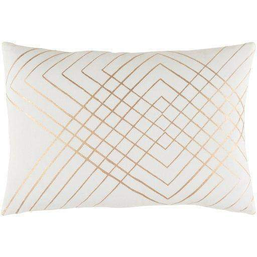 "Crescent Throw Pillow: 13"" x 19"" (Cream) - Parker Gwen"