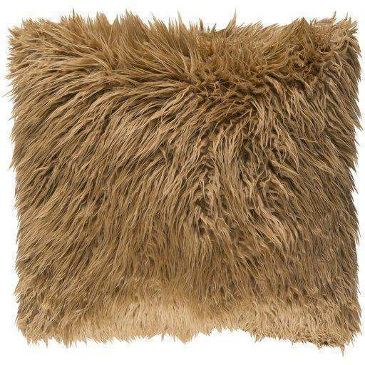 "Kharaa Faux Fur Pillow 20"" or 22"" (Camel) - Parker Gwen"