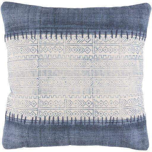 Lola 20 x 20 x 4 Throw Pillow: Blue & White - Parker Gwen