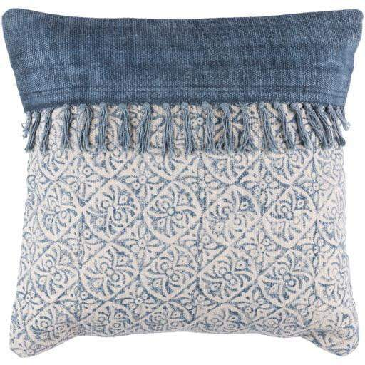 "Surya Lola Pillow: 20"" x 20"" Navy-Pillow-Parker Gwen"