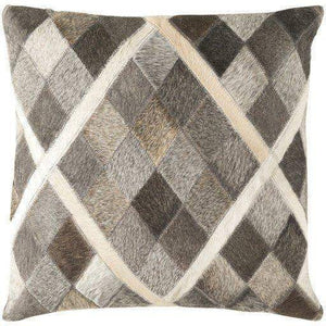 Surya Lycaon 18 x 18 x 4 Throw Pillow: Brown I-Pillow-Parker Gwen