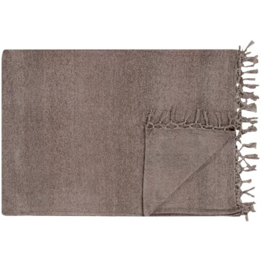 "Tessa 40"" x 60"" Throw Blanket (Medium Grey)"