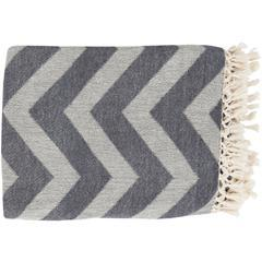 "Thacker Woven Throw Blanket 50"" x 70"" (Charcoal)"