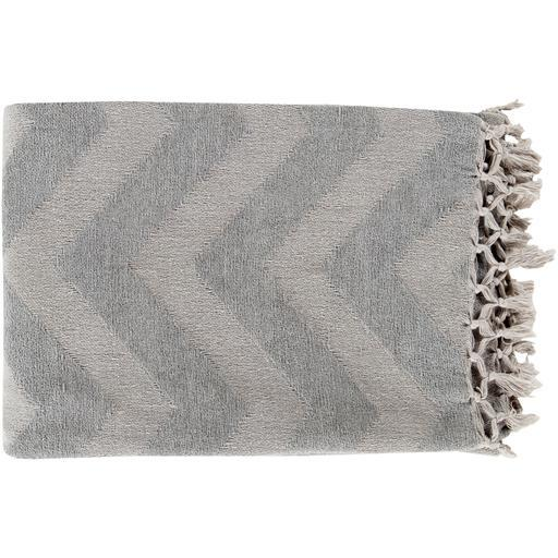 "Thacker Woven Throw Blanket 50"" x 70"" (Gray)"