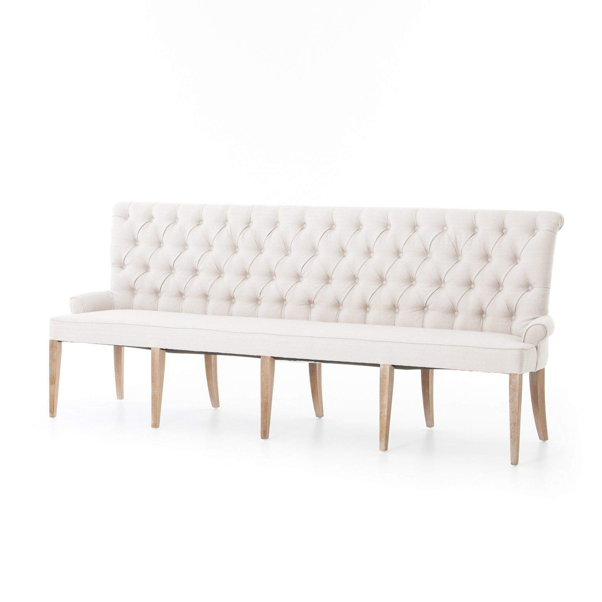 Theory Collection Banquette: Light Sand-Dining Bench-Parker Gwen