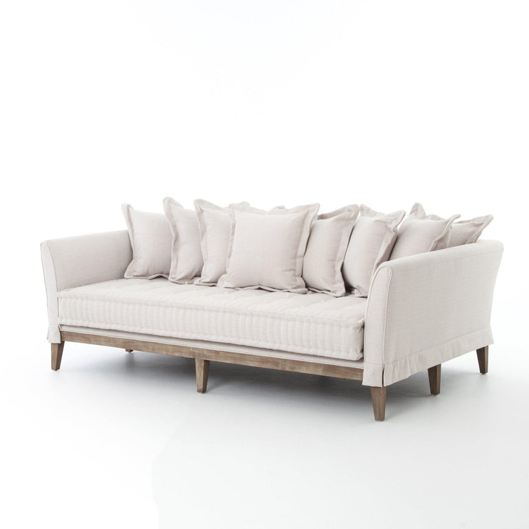 "Theory Collection Day Bed 84"" Sofa: Light Sand 