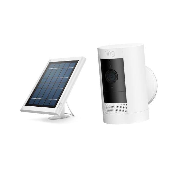 Ring Stick Up Cam Battery Solar Soft (White) - Parker Gwen