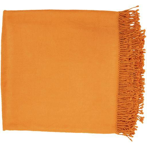 "Tian Tian Bamboo Woven Throw Blanket 50"" x 67"" (Orange) 