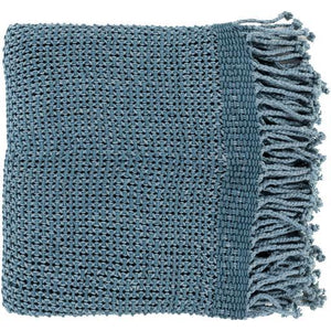 "Tibey Woven Cotton Throw Blanket 50"" x 70"" (Demin) 