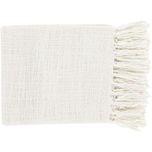 "Tilda Woven Fringe Edge Acrylic Throw Blanket 51"" x 59"""