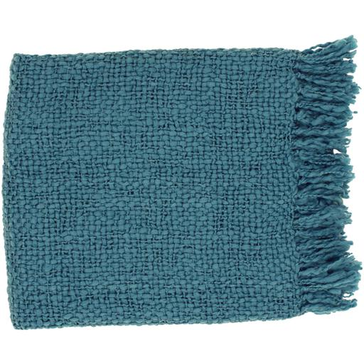 "Tobias Woven Acrylic & Wool Throw Blanket 51"" x 71"" (Teal) 