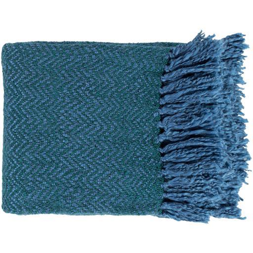 "Trina Woven Throw Blanket 50"" x 60"" (Blue Green)-Throw-Parker Gwen"