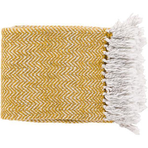 "Trina Woven Throw Blanket 50"" x 60"" (Saffron) 