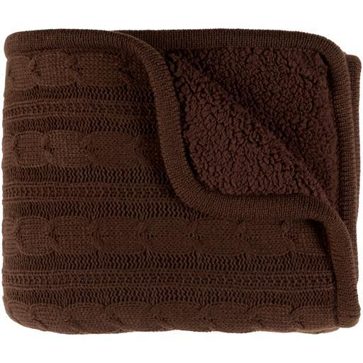 "Tucker Knitted Throw Blanket 50"" x 60"" (Brown)-Throw-Parker Gwen"