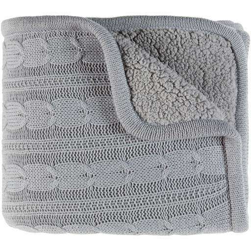 "Tucker Knitted Throw Blanket 50"" x 60"" (Grey)-Throw-Parker Gwen"
