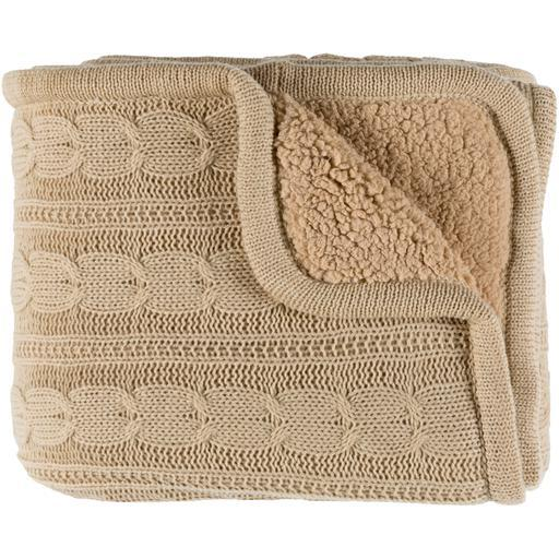"Tucker Knitted Throw Blanket 50"" x 60"" (Khaki)-Throw-Parker Gwen"