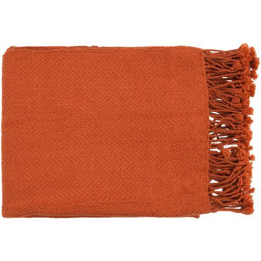 "Turner Woven Throw Blanket ""50"" x 60"" (Burnt Orange) 