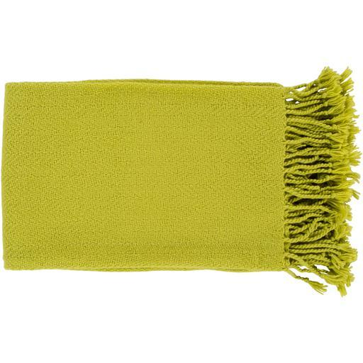"Turner Woven Throw Blanket 50"" x 60"" (Lime Green) 
