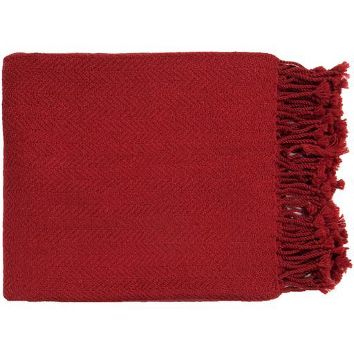 "Turner Woven Throw Blanket 50"" x 60"" (Red)-Throw-Parker Gwen"
