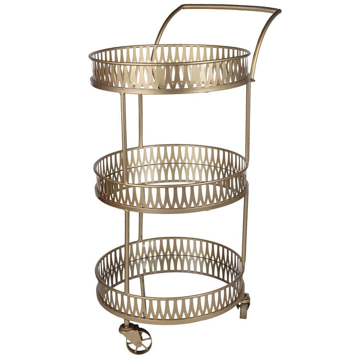 Urban Vogue Round Bar Cart | Bar Cart | parker-gwen